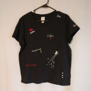 Love t shirt NWT size M